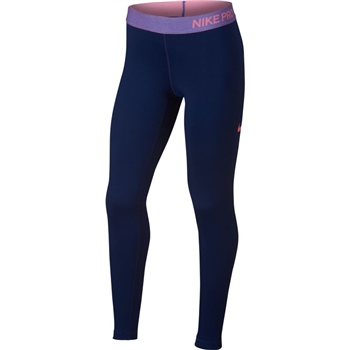 Nike Girls Pro Warm Girls Tights - Navy Pink - Click to view a larger f4b548b04
