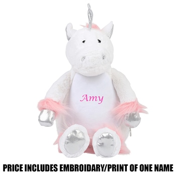 Mumbles Personalised Unicorn - White  - Click to view a larger image