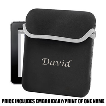 Bag Base Personalised iPad/ Tablet Sleeve - Black  - Click to view a larger image