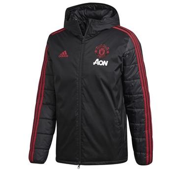 Adidas Manchester Utd Winter Jacket - Black