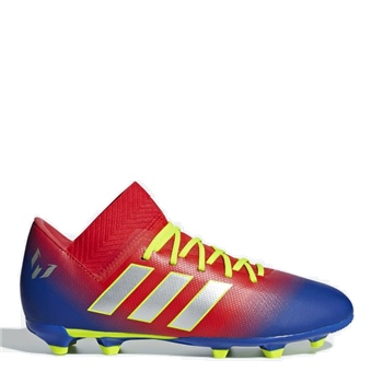 1c9396def Adidas Kids Nemeziz Messi 18.3 FG J - Red/Silver/Blue ...