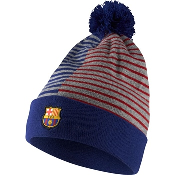 d95cc19af95 Nike Barcelona FCB Striped Knit Beanie - Royal Grey Red - Click to view