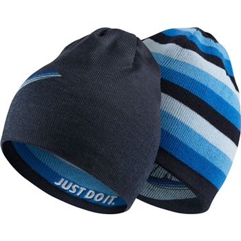 1d640207c5db7 Nike Kids Reversible Beanie - Navy Royal - Click to view a larger image