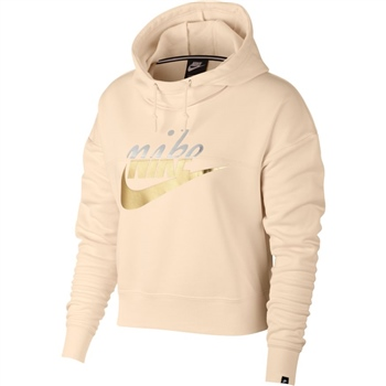 Nike Womens NSW Rally Hoodie Metallic - Peach/Metallic  - Click to view a larger image