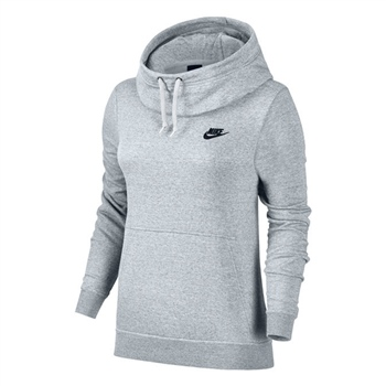 Nike Womens Fleece Overhead Hoodie - Pale Grey  - Click to view a larger image