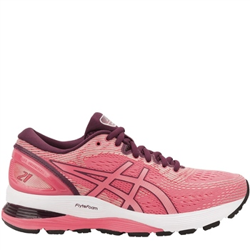 Asics Womens Gel Nimbus 21 - Pink  - Click to view a larger image