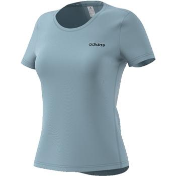 Adidas Womens D2M Solid T-Shirt - AshGrey