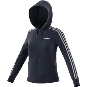 Adidas Womens Ess. 3S Full Zip Hoodie - Navy/White