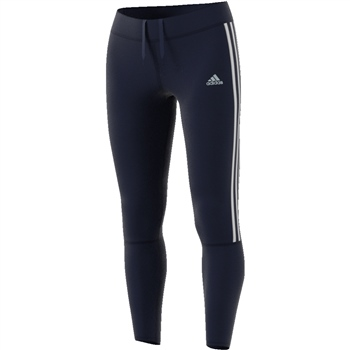 Adidas Womens Run 3S Tights - Navy/White