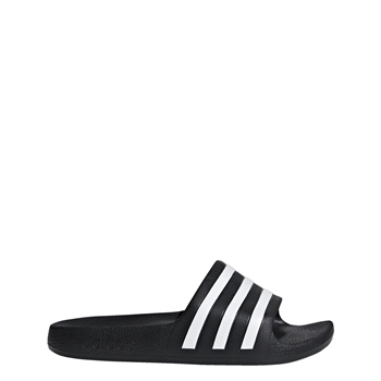 6c8c58103 Adidas Kids Adilette Aqua Slides - Black White - Click to view a larger  image