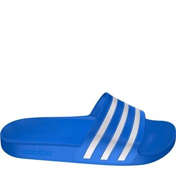 Adidas Adults Adilette Aqua Slides - Royal/White