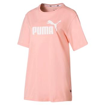 Puma Womens Ess+ Boyfriend Tee - Peach  - Click to view a larger image