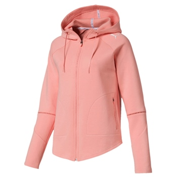 5bd99fe7cc5f Puma Womens Evostripe Move Hooded Jkt - Peach
