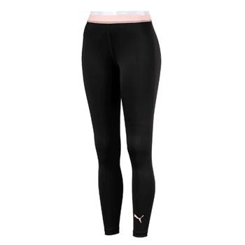Puma Womens Soft Sports Leggings - Black/Peach