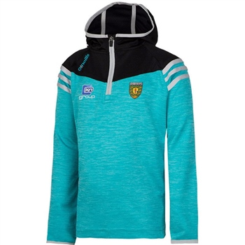 ONeills Donegal Colorado Hooded Half Zip Top - Cyan/Black/Silver  - Click to view a larger image