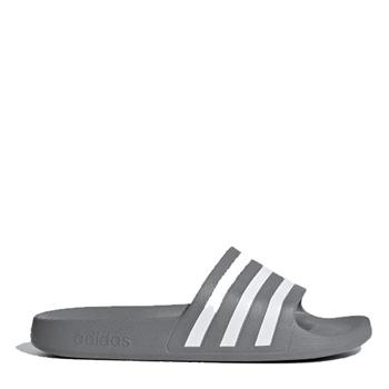 Adidas Adults Adilette Aqua Slides - Grey/White