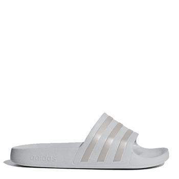 Adidas Adults Adilette Aqua Slides - White/Grey  - Click to view a larger image