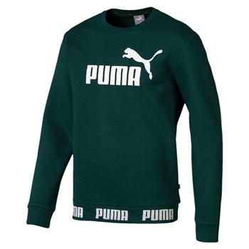 Puma Mens Amplified Crew FL Sweat Top - Pine Green