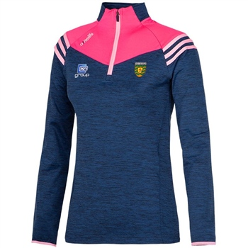 ONeills Donegal Colorado Girls/Ladies HZ Top - Navy/Pink  - Click to view a larger image