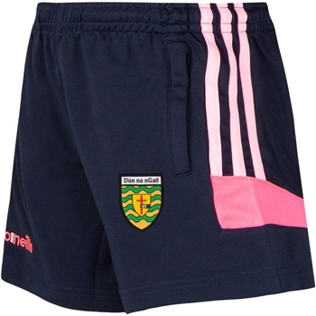 ONeills Donegal Colorado Girls/Ladies Shorts - Navy/Pink  - Click to view a larger image