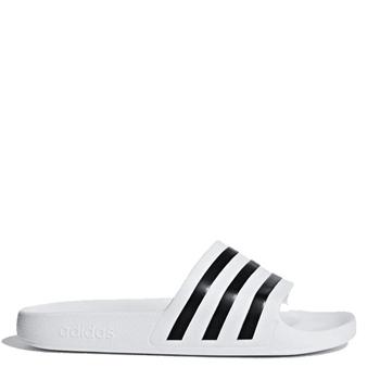 Adidas Adults Adilette Aqua Slides - White/Black