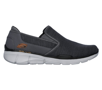 Skechers Mens Equalizer 3.0 - Sumnin - Charcoal/Orange
