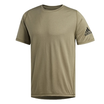 Adidas Mens FreeLift Sport Ultimate Heather Tee - Khaki.Green  - Click to view a larger image
