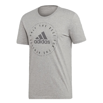Adidas Mens Must Have Emblem T-Shirt - Grey  - Click to view a larger image