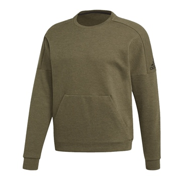 Adidas Mens ID Stadium Crew Neck Sweat - Khaki.Green  - Click to view a larger image