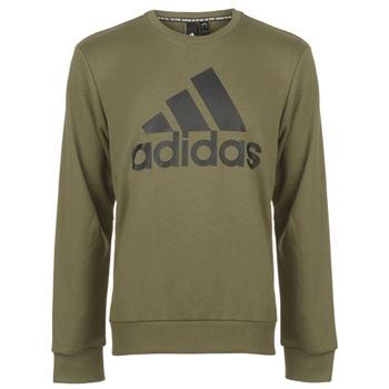 Adidas Mens Must Haves BOS Crew Sweat Top - KhakiGreen/Black
