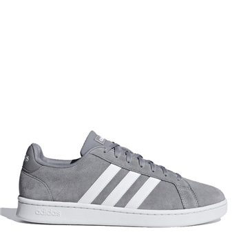Adidas Mens Grand Court - Grey/White  - Click to view a larger image