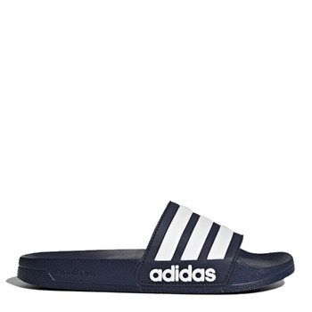 Adidas Adilette Shower Sliders - Navy/White  - Click to view a larger image