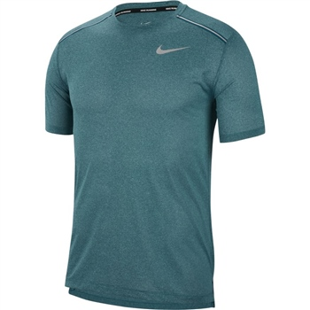 Nike Mens Dry Cool Miler S/S Top - Blue Marl  - Click to view a larger image