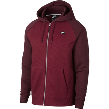 Nike Mens Optic FZ Hoodie - Maroon  - Click to view a larger image