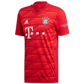 Adidas FC Bayern Munich Home Jersey 19/20 Kids - Red  - Click to view a larger image