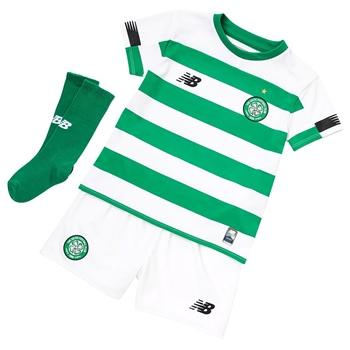 New Balance Celtic FC 2019//20 Infant Kids Away Football Kit Yellow//Green