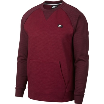 Nike Mens NSW Optic Crew Top - Maroon  - Click to view a larger image