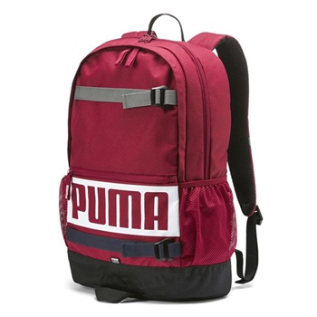 Puma Deck Backpack F7 - Maroon/White  - Click to view a larger image