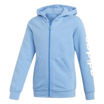 Girls Linear Full Zip Hoodie BlueWhite Age 45 BlueWhite