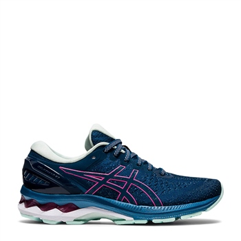 Asics WOMENS GEL KAYANO 27 - NAVY/PINK  - Click to view a larger image
