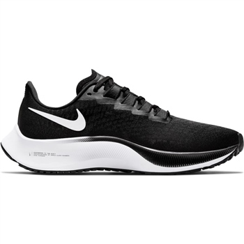 Nike WOMENS AIR ZOOM PEGASUS 37 - BLACK/WHITE  - Click to view a larger image
