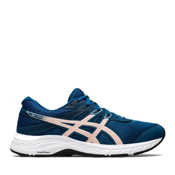 Asics WOMENS GEL CONTEND 6 - MAKO BLUE/GINGER PEACH  - Click to view a larger image