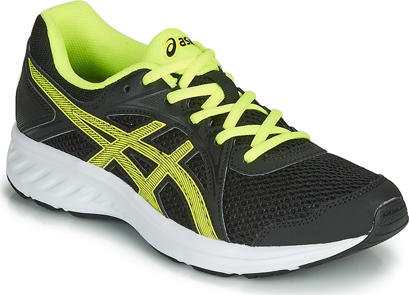 Boys Jolt 2 GS Runners - Black/Safety Yellow - 5 - Black/Safety Yellow